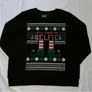 Women's Ugly Christmas Sweater Lets Take an #Elfie